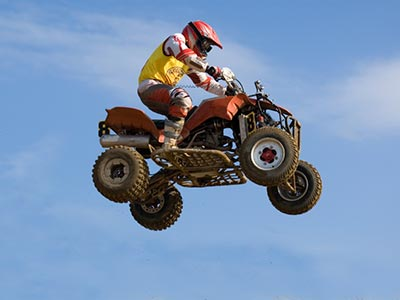Competitive four wheeler in the air