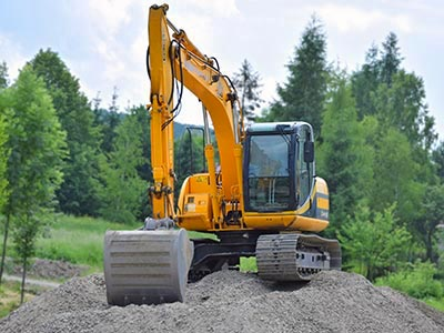 Excavator on jobsite