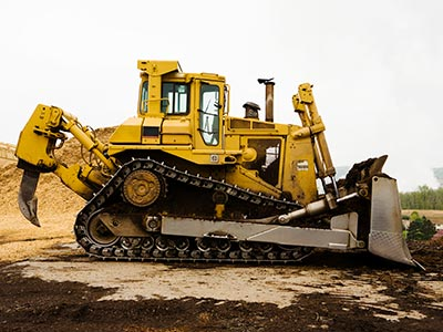 Side of bulldozer