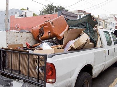 Truck on junk removal job