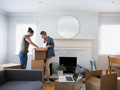 Man and woman preparing for their home move